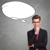 Man with speech bubble Royalty Free Stock Images
