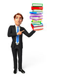 Young Business Man with books Stock Photo