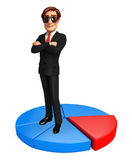 Young Business Man with business graph Stock Image