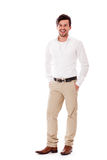 Young business man in casual outfit smiling Stock Image