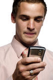 Young business man on cell phone Royalty Free Stock Photo
