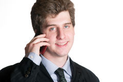 Young business man on the cell phone Stock Photo