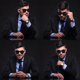 Young business man collage royalty free stock photography