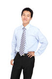 Young business man with confident smile Royalty Free Stock Images