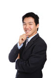 Young business man with confident smile Stock Photo