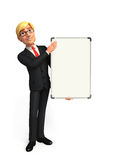 Young Business Man with display board Stock Photo