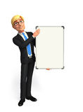 Young Business Man with display board Stock Photos