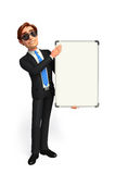 Young Business Man with display board Stock Images