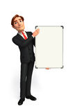 Young Business Man with display board Royalty Free Stock Photo