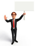 Young Business Man with display board Stock Photography