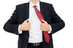 Young business man expressing frustration isolated Stock Photography