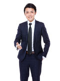 Young business man extending hand to shake Royalty Free Stock Photos