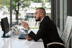 Young Business Man With A Finger Point Stock Image