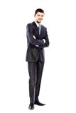 Young business man full body isolated on white Stock Photo