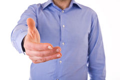 Business man giving hand. Stock Photos
