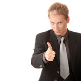 Young business man going thumb up Royalty Free Stock Photo