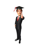 Young Business Man with graduate hat Royalty Free Stock Photo