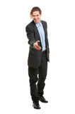 Young business man greeting Royalty Free Stock Image