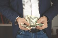 Man hand money royalty free stock images