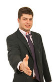 Young business man handshake Royalty Free Stock Photography
