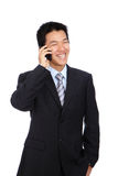 Young Business Man happy Speaking mobile phone Stock Images