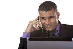 Young business man having a telephone call Stock Photo