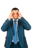 Young business man with headache Royalty Free Stock Photos
