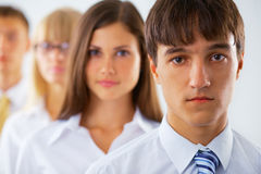 Young business man with his colleagues Stock Photo