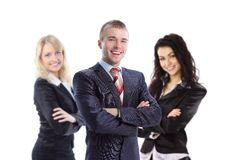 Young  business man with his collegues Royalty Free Stock Image