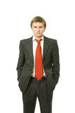 Young Business Man With His Hands In Pockets Royalty Free Stock Photo