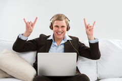 Young business man in his wake Stock Images