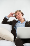 Young business man in his wake Royalty Free Stock Photo