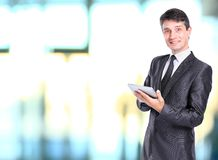 Young business man holding Royalty Free Stock Images
