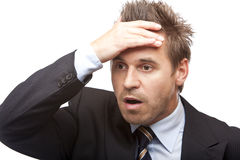 Young Business Man Is Shocked Royalty Free Stock Photo