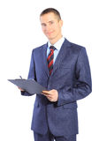 Young business man isolated Royalty Free Stock Image