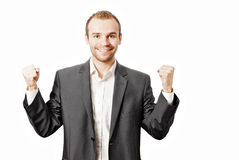 Young business man isolated on white Royalty Free Stock Images