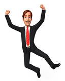 Young Business man  is jumping Stock Photo