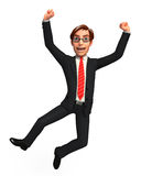 Young Business man with jumping Stock Images