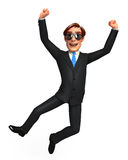 Young Business man  is jumping Stock Images