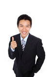 Young Business Man with like or good hand gesture Stock Photography