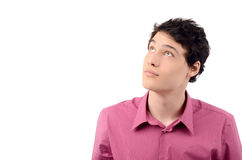 Young business man looking up. Stock Images