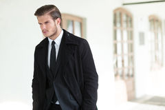 Young business man looks away Stock Image