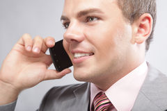 Young business man making a phone call Royalty Free Stock Photography