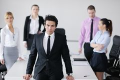 Young business man at meeting Royalty Free Stock Photo