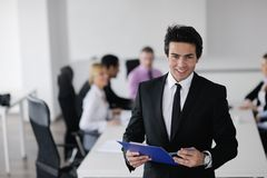 Young business man at meeting Stock Photos