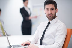 Young business man at meeting Stock Photo
