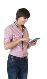 Young business man with notebook Royalty Free Stock Photo
