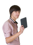 Young business man with notebook Royalty Free Stock Images