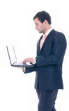 Young business man with notebook Royalty Free Stock Photography