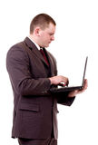 Young business man with notebook Stock Images